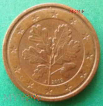 1 Euro Cent 2002 Niemcy