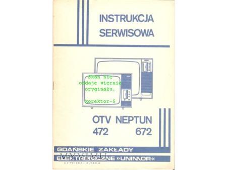 Instrukcja serwisowa TV NEPTUN 472