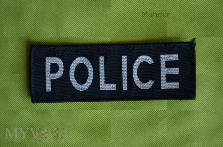Naszywka brytyjska POLICE