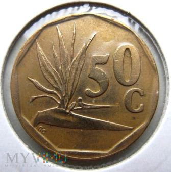 50 centów 1991 r. Afryka Południowa