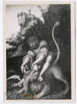 Cranach - Samson walczy z lwem