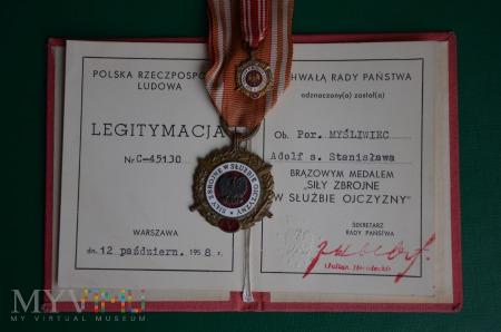 """Duże zdjęcie Brązowy medal """"Siły zbrojne w służbie ojczyzny"""""""