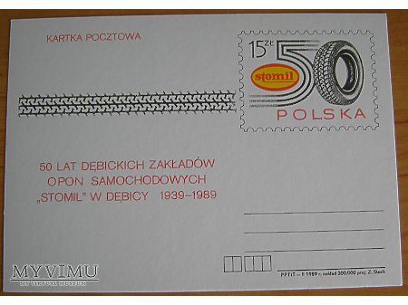Duże zdjęcie Stomil 50 lat, kartka pocztowa