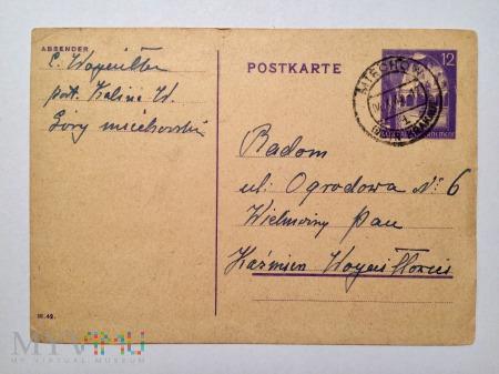 Kartka imieninowa, 1/3 44.