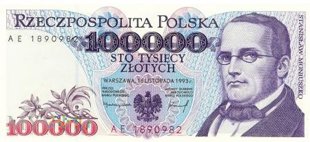 Polska - 100 000 złotych (1993)