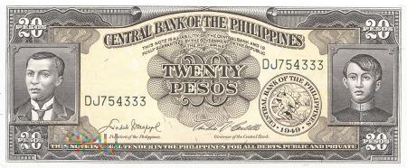 Filipiny - 20 pesos (1949)