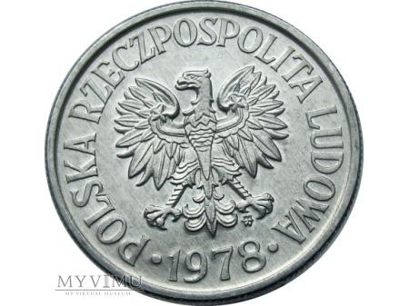 50 Groszy, 1978 rok, ze znakiem mennicy.