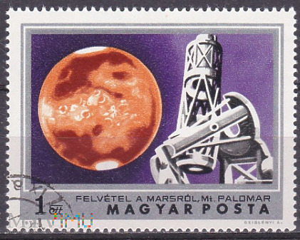 Mars and Mt. Palomar Observatory