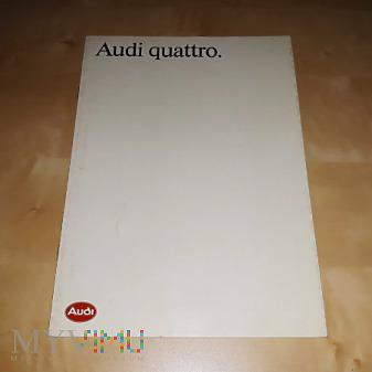 Prospekt Audi Quattro 1987