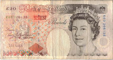 Wielka Brytania - 10 funtów (1993)