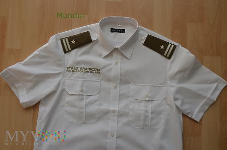 Koszula wyjściowa z haftowanym napisem SG