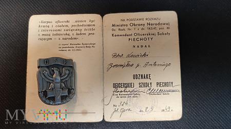 Duże zdjęcie Legitymacja - Nadanie Odznaki OSP z 1949 r.