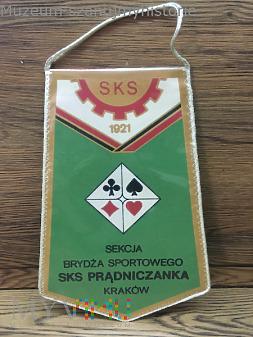 Proporczyk Prądniczanka sekcja brydża sportowego