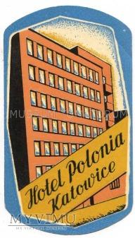 Nalepka hotelowa - Katowice - Hotel Polonia