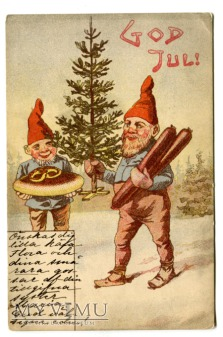 1905 Krasnal i życzenia świąteczne Szwecja