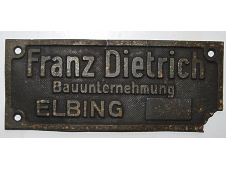Duże zdjęcie blaszka Franz Dietrich