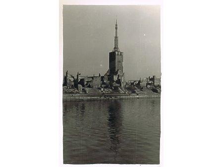 Elbląg- zniszczone Stare Miasto