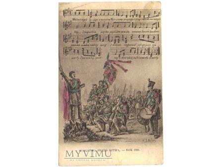 Duże zdjęcie MODLITWA PRZED BITWĄ - ROK 1831