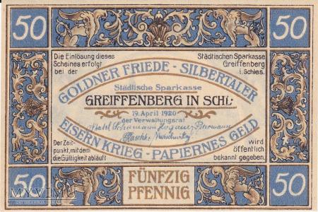 Notgeld Greiffenberg in Schlesien 50 Pf.