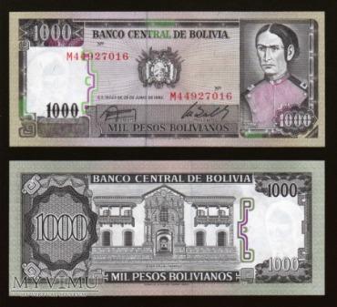 Bolivia - P 167 - 1000 Pesos - 1982