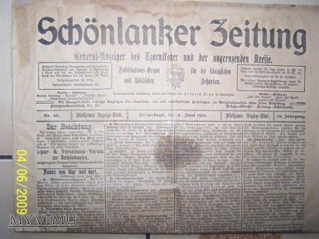 Gazeta z 1910r.