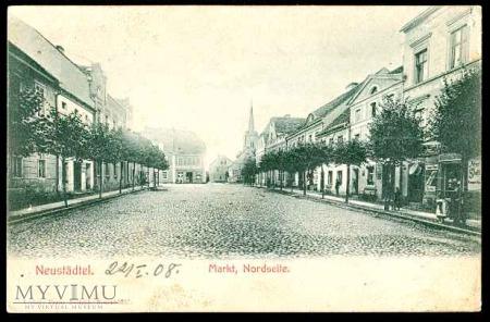 Widok na zachodnią pierzeję rynku - 1902 r.
