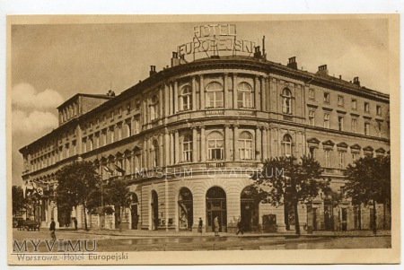 W-wa - Krakowskie Przed.- Hotel Europejski 1930 ok