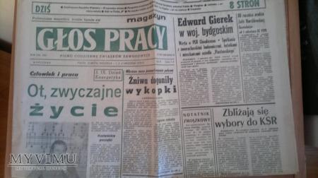 """Duże zdjęcie """"Głos Pracy"""" 1978r."""