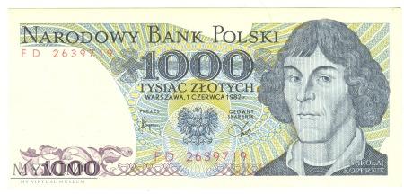 1000 złotych 1982