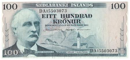 Islandia - 100 koron (1961)