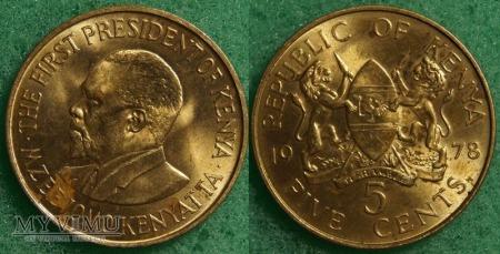 Kenia, 5 cents 1978