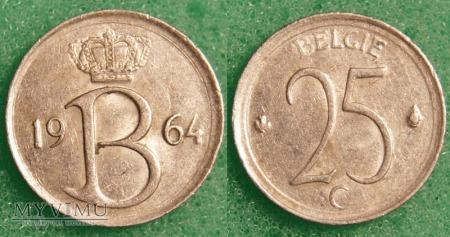 Belgia, 25 Centimes 1964