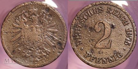 Niemcy, 1875, 2 PFENNIG