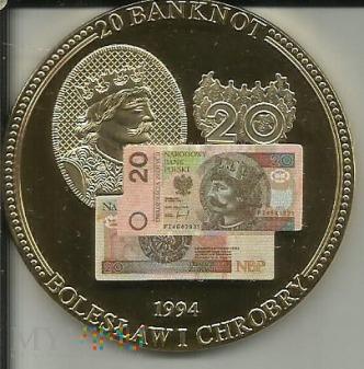 Bnknot 20 Zlotowy Bolesław I Chrobry