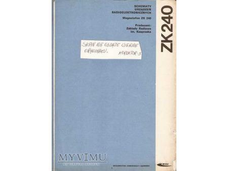 Instrukcja serwisowa magnetofonu ZK-240