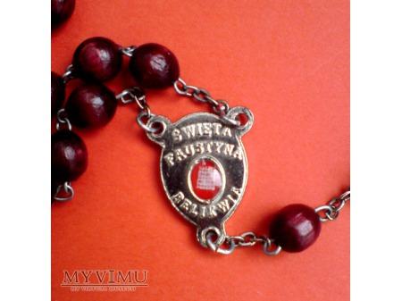 św. Faustyna Kowalska RELIKWIA - Różaniec