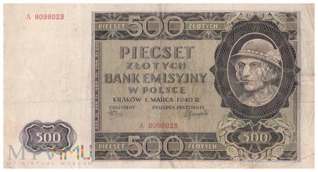 Polska - 500 złotych (1940)