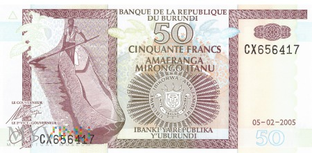 Burundi - 50 franków (2005)