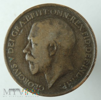 Moneta 1 Pens 1912 Jerzy V One Penny