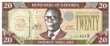 Liberia - 20 dolarów (2011)