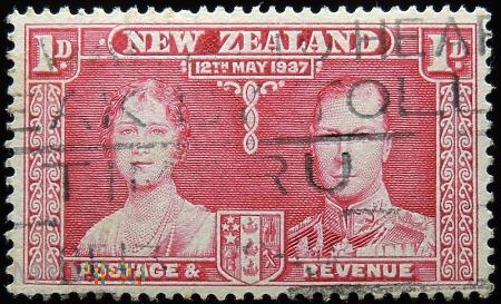 Nowa Zelandia 1D Jerzy VI i Elżbieta II