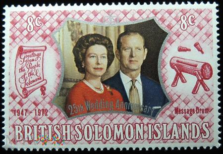 Wyspy Salomona 8c Elżbieta II