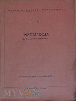 R23-1962 Instrukcja dla dyspozytorów przewozów