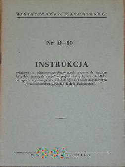 D80-1965 Instrukcja naprawach maszyn torowych