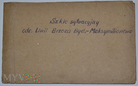 Szkic sytuacyjny odcinka Brzoza B.- Maksymilianowo