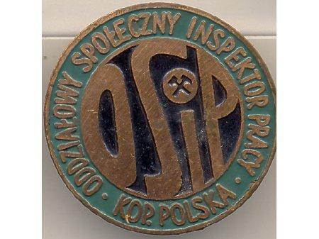 Duże zdjęcie Oddziałowy Społ.Insp. Pracy kop.Polska