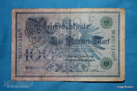 100 Mark 1908