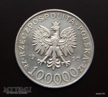 100000 zł PRL Solidarność