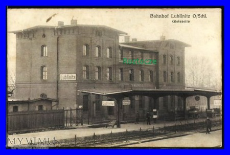LUBLINIEC Lublinitz Dworzec kolejowy