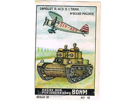 Duże zdjęcie Bohm - 3x12 - Samolot RWD-6 i tank